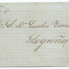 Sellos: 17/03/1866, SAN SEBASTIÁN A LOGROÑO, EDIFIL 81 MAT. RUEDA CARRETA 41. Lote 190818305