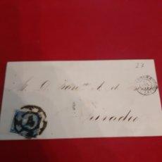 Sellos: 1866 ISABEL II EDIFIL 75 4 CUARTOS CORUÑA MATASELLO DIRIGIDO RIBADEO. Lote 190902676