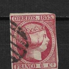 Sellos: ESPAÑA 1853 EDIFIL 17 - 15/21. Lote 191205583