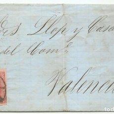 Sellos: 17/12/1864. TARRAGONA A VALENCIA, EDIFIL 64 MAT. RUEDA CARRETA 46. Lote 191260635