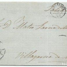 Sellos: 6/09/1865. TARRAGONA A VILLAGARCÍA, EDIFIL 75 MAT. RUEDA CARRETA 46. Lote 191261563