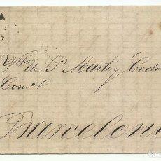 Sellos: 8/07//1867. TARRAGONA A BARCELONA, EDIFIL 96 MAT. RUEDA CARRETA 46. Lote 191261935