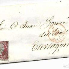 Sellos: SOBRE - CARTA COMERCIAL REINTEGRADO AÑO 1855 - DESDE ALICANTE - 3- A TARRAGONA. Lote 191265716