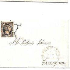 Sellos: CATALUÑA. EDIFIL 6. ENVUELTA CIRCULADA DE IGUALADA A TARRAGONA 1851 MARCA L. Lote 191336345