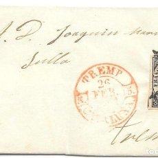 Sellos: CATALUÑA. EDIFIL 6. ENVUELTA CIRCULADA A TREMP ANULADA A LA LLEGADA. 1851. Lote 191336730