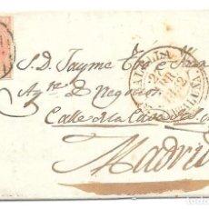 Selos: CATALUÑA. EDIFIL 12. ENVUELTA CIRCULADA DE CALELLA A MADRID. 1852. Lote 191337062
