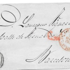 Sellos: CATALUÑA. EDIFIL 18. ENVUELTA CIRCULADA DE GERONA A BARCELONA. 1853. Lote 191338752