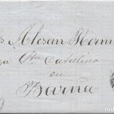 Sellos: CATALUÑA. EDIFIL 96. ENVUELTA CIRCULADA DE GERONA A BARCELONA 1867. Lote 191341490