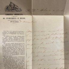 Sellos: CARTA DE MADRID A CÁDIZ AÑO 1859. Lote 191450687