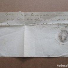 Sellos: RECIBO EMITIDO 1857 SALINAS D LS ALFAQUES SANT CARLES D LA RAPITA TARRAGONA CON SELLO REALES SALINAS. Lote 191698027