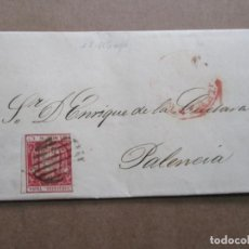 Sellos: CIRCULADA Y ESCRITA 1854 DE SANTANDER A PALENCIA. Lote 191698533