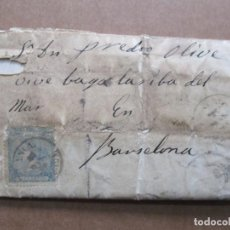 Sellos: CIRCULADA Y ESCRITA 1866 DE POLLENÇA POR INCA MANACOR A BARCELONA. Lote 191716198