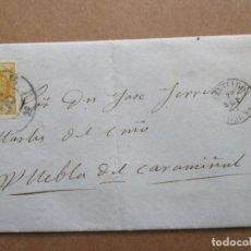 Sellos: CIRCULADA NOTICIAS EMFERMEDAD 1861 DE SANTIAGO A PUEBLA DEL CARAMIÑAL CORUÑA GALICIA RUEDA CARRETA. Lote 191717605