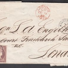Sellos: ENVUELTA DE MADRID A LONDRES, 3.DIC.1859, SELLO EDIFIL Nº 50 EN PAREJA . Lote 191739990