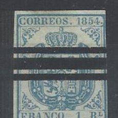 Timbres: ESCUDO 1854 EDIFIL 34 AS BARRADO VALOR 2002 CATALOGO 124.- EUROS. Lote 192866891