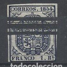 Timbres: ESCUDO 1854 EDIFIL 34 S BARRADO VALOR 2002 CATALOGO 17.50 EUROS. Lote 192867056