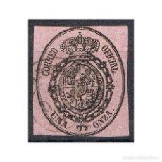 Sellos: [CF1029C] ESPAÑA 1855, ESCUDO DE ESPAÑA, 1 ONZA (U). Lote 193359453
