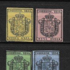 Timbres: ESPAÑA 1854 EDIFIL 28/31 (*) - 2/4. Lote 193655118