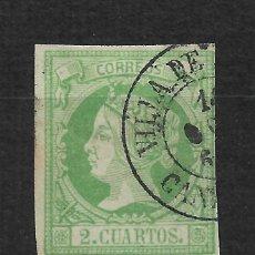 Sellos: ESPAÑA 1860 EDIFIL 51 - 2/5. Lote 193656777