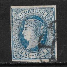 Sellos: ESPAÑA 1864 EDIFIL 68 - 19/11. Lote 193657098