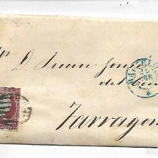 Sellos: PREFILATELIA SOBRE CARTA COMERCIAL DE BARCELO A TARRAGONA AÑO 1855. Lote 193959535