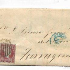 Sellos: PREFILATELIA SOBRE CARTA COMERCIAL DE BARCELO A TARRAGONA 16-4-1855. Lote 193960120