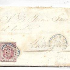 Sellos: PREFILATELIA SOBRE CARTA COMERCIAL DE BLANES - MATASELLOS BARNA A TARRAGONA AÑO 1855. Lote 193960547