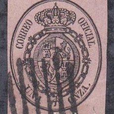 Sellos: ESPAÑA.- ISABEL II Nº 36 ESCUDO DE ESPAÑA MATASELLO PARRILLA SIN MARCO . Lote 194099208