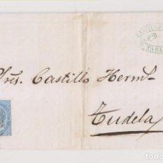 Sellos: ENVUELTA. TARAZONA, ZARAGOZA. 1867. FECHADORES. A TUDELA, NAVARRA. MARCA COMERCIAL. Lote 194161441