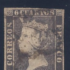 Sellos: EDIFIL 1A. ISABEL II. AÑO 1850. MATASELLOS DE ARAÑA NEGRA. PAPEL GRUESO. LUJO.. Lote 194362211