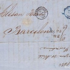 Sellos: AÑO1856 EDIFIL 48 CARTA MATASELLOS REJILLA Y TARRAGONA MEMBRETE DE S.SERRAHIMA. Lote 194514276
