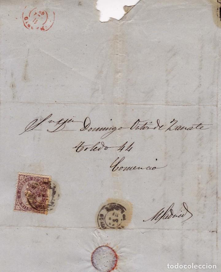 AÑO1868 EDIFIL 98 CARTA MATASELLOS BRIHUEGA GUADALAJARA (Sellos - España - Isabel II de 1.850 a 1.869 - Cartas)