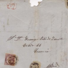 Sellos: AÑO1868 EDIFIL 98 CARTA MATASELLOS BRIHUEGA GUADALAJARA. Lote 194515761