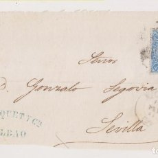 Sellos: FRONTAL. BILBAO, VIZCAYA, A SEVILLA. MARCA COMERCIAL C. JACQUET. Lote 194533826