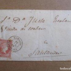 Sellos: CIRCULADA 1859 DE RAMALES A SANTANDER . Lote 194658393