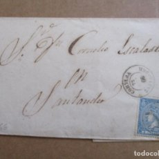 Sellos: CIRCULADA 1866 E CORVERA A SANTANDER . Lote 194658471