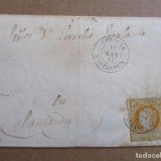 Sellos: CIRCULADA 1861 DE CORVERA A SANTANDER . Lote 194658706
