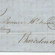 Sellos: CARTA ESCRITA Y CIRCULADA EN 1857 DESDE MADRID A BARCELONA.. Lote 194689140