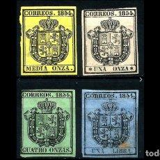 Sellos: ESPAÑA - 1854 - ISABEL II - EDIFIL 28/31 - SERIE COMPLETA - MH* - NUEVOS - VALOR CATALOGO 122€.. Lote 194697010