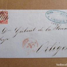 Sellos: CIRCULADA 1857 DE SANTANDER A ORTIGOSA RIOJA. Lote 194702448