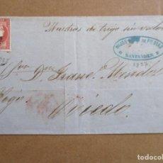 Sellos: CIRCULADA 1857 DE SANTANDER A OVIEDO. Lote 194746196