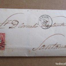 Sellos: CIRCULADA 1857 DE MADRID A SANTANDER . Lote 194754902