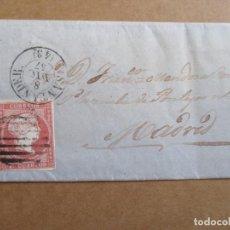 Sellos: CIRCULADA 1857 DE SANTANDER A MADRID . Lote 194754997