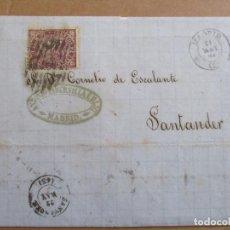 Sellos: CIRCULADA 1869 DE MADRID A SANTANDER . Lote 194781855