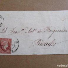 Sellos: CIRCULADA 1859 DE SANTANDER A RIVADEO LUGO . Lote 194782486