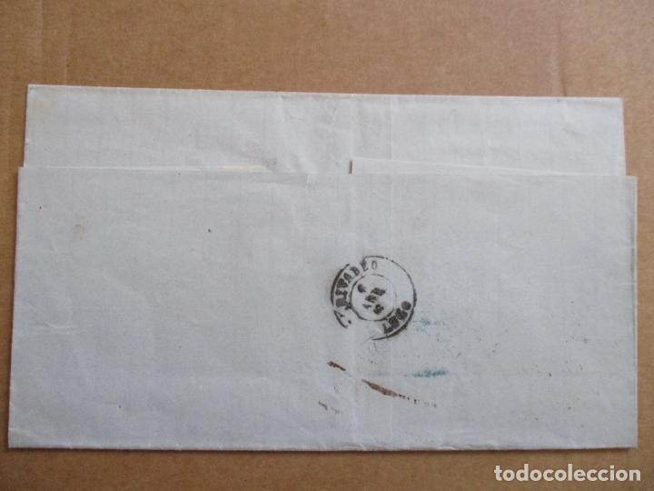 Sellos: CIRCULADA 1869 de santander a rivadeo lugo - Foto 2 - 194782651