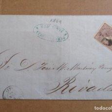 Sellos: CIRCULADA 1869 DE SANTANDER A RIVADEO LUGO . Lote 194782651