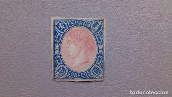 ESPAÑA - 1865 - ISABEL II - EDIFIL 70 - MH* - NUEVO - AUTENTICO - VALOR CATALOGO 570€. (Sellos - España - Isabel II de 1.850 a 1.869 - Nuevos)