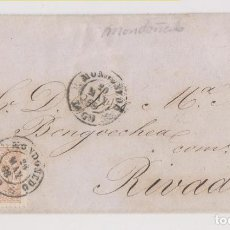 Sellos: ENVUELTA. MONDOÑEDO, LUGO. 1868. A RIBADEO. BONITO FECHADOR. Lote 194961737