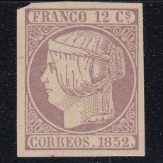 Sellos: 1852 EDIFIL 13* NUEVO CON CHARNELA. FALSO FILATELICO. ISABEL II (220). Lote 195042923